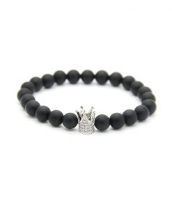 black-mat-crown-diamond-silver