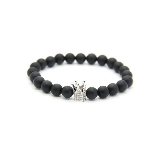 black-mat-crown-diamond-silver
