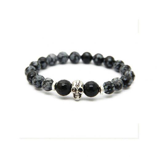 dark grey skull silver