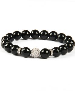 Black mat diamond bal silver