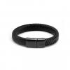 leather armband zwart