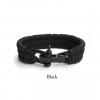 rope armband zwart